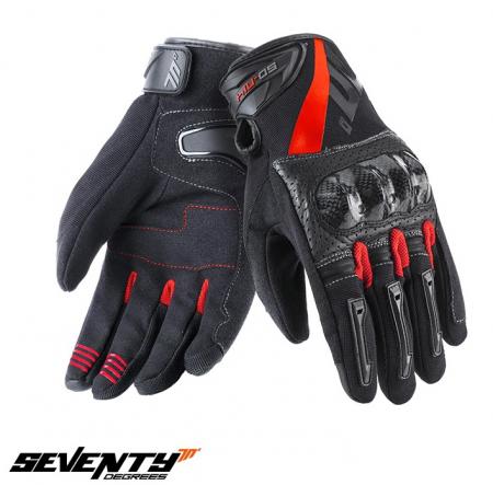 Manusi barbati Racing/Naked vara Seventy model SD-N14 negru/rosu – degete tactile [0]
