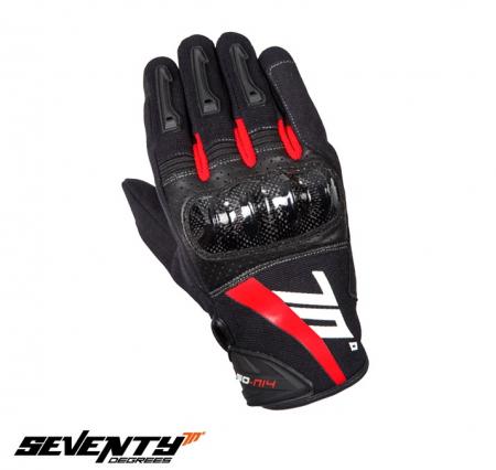Manusi barbati Racing/Naked vara Seventy model SD-N14 negru/rosu – degete tactile [1]