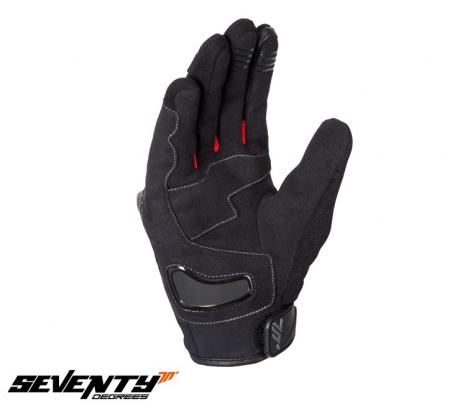 Manusi barbati Racing/Naked vara Seventy model SD-N14 negru/rosu – degete tactile [2]