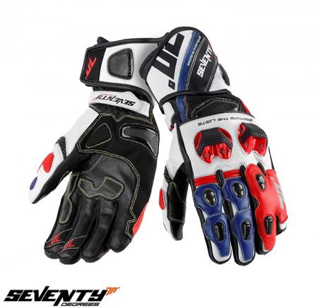 Manusi barbati racing vara Seventy model SD-R12 negru/rosu/albastru [0]