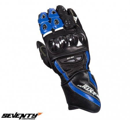 Manusi barbati racing vara Seventy model SD-R2 negru/albastru [1]