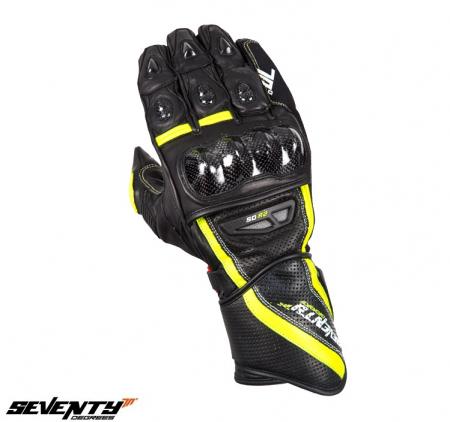 Manusi barbati racing vara Seventy model SD-R2 negru/galben [1]