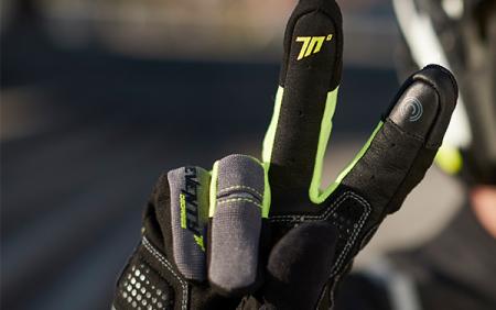 Manusi barbati Urban vara Seventy model SD-C48 negru/galben – degete tactile [1]