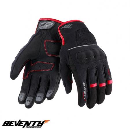 Manusi barbati Urban vara Seventy model SD-C54 negru/rosu – degete tactile [0]