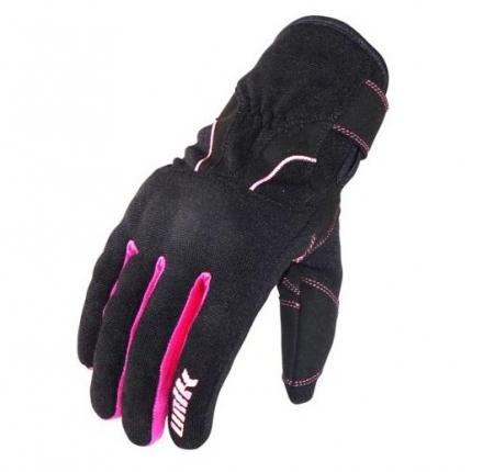 Manusi femei (dama) motociclete Unik Racing model C-68 culoare: negru/roz [1]