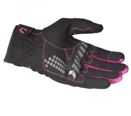 Manusi femei (dama) motociclete Unik Racing model C-68 culoare: negru/roz [2]