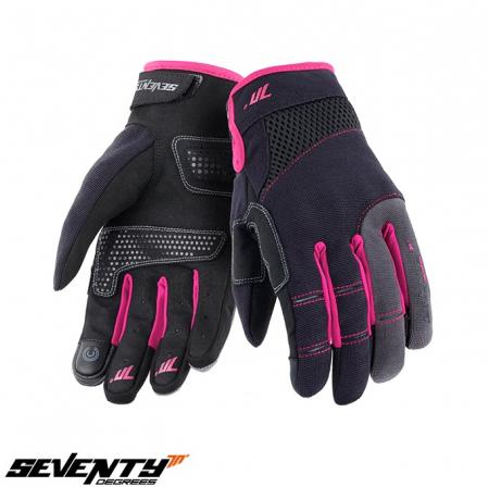 Manusi femei Urban vara Seventy model SD-C50 negru/roz – degete tactile [0]
