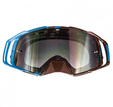 Ochelari MT off road (cross-enduro) MX EVO Stripes – culoare negru/albastru [1]