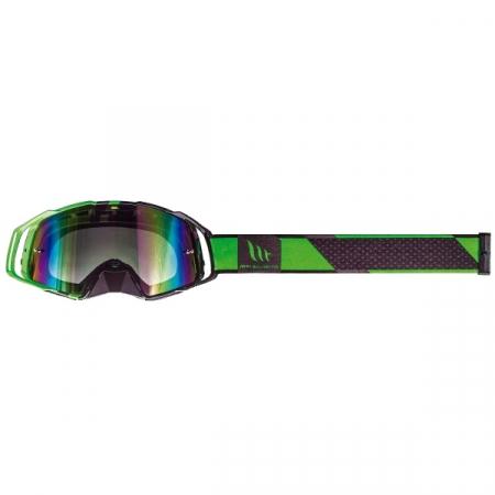 Ochelari MT off road (cross-enduro) MX EVO Stripes – culoare negru/verde fluor [2]