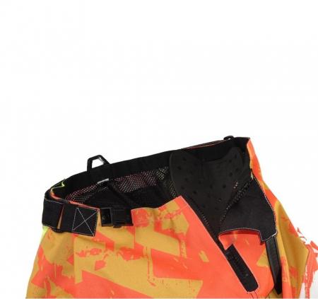 Pantaloni motociclete cross-enduro Unik Racing model MX01 culoare: portocaliu/verde fluor [3]