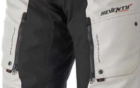 Pantaloni motociclete Touring unisex Seventy vara/iarna model SD-PT1 culoare: negru/gri [3]