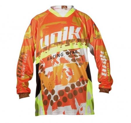 Tricou (bluza) cross-enduro Unik Racing model MX01 culoare: portocaliu fluor – marime L [1]