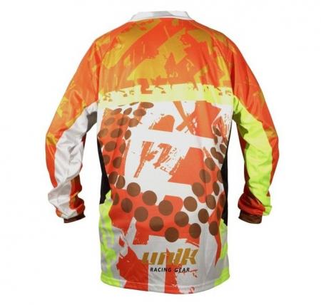 Tricou (bluza) cross-enduro Unik Racing model MX01 culoare: portocaliu fluor – marime L [2]