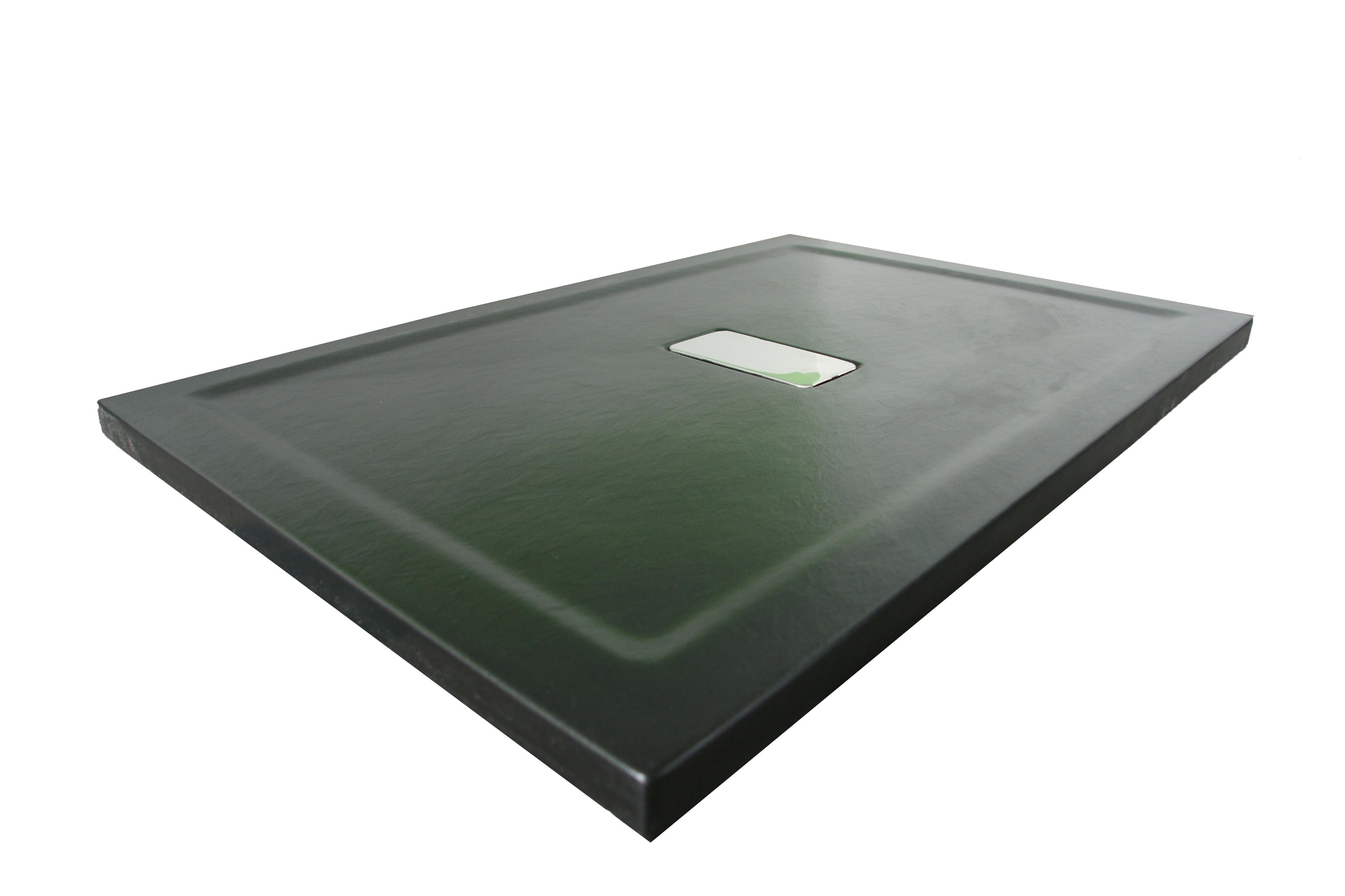 Cadita de dus Relax 180x80 - finisat texturat negru mat1