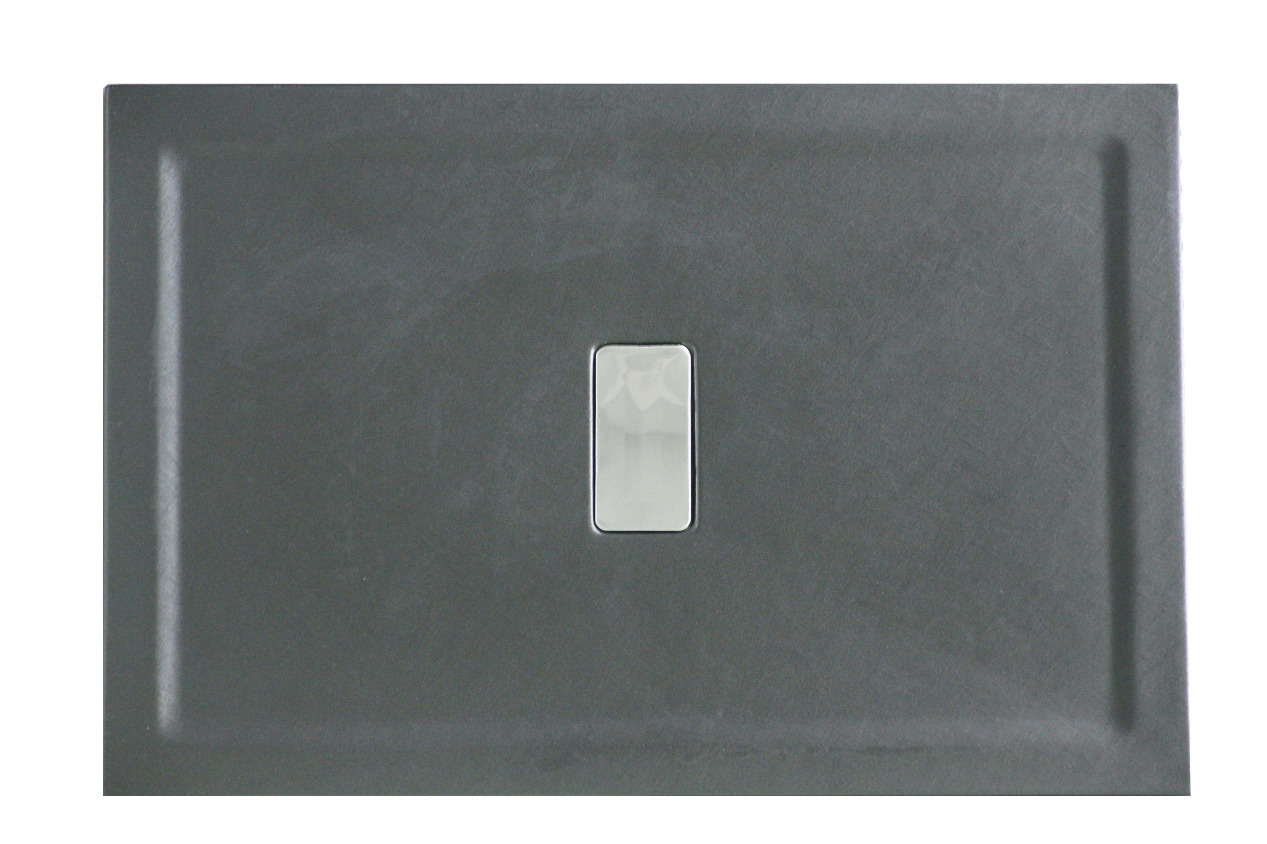 Cadita de dus Relax 100x70 - finisaj texturat negru mat0