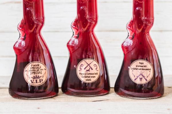 Sticla de vin Pusca cu mesaj 1