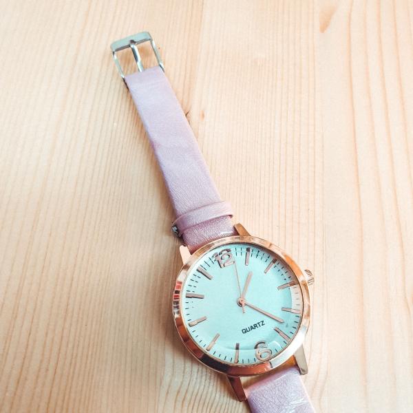 Ceas de dama Quartz roz 1