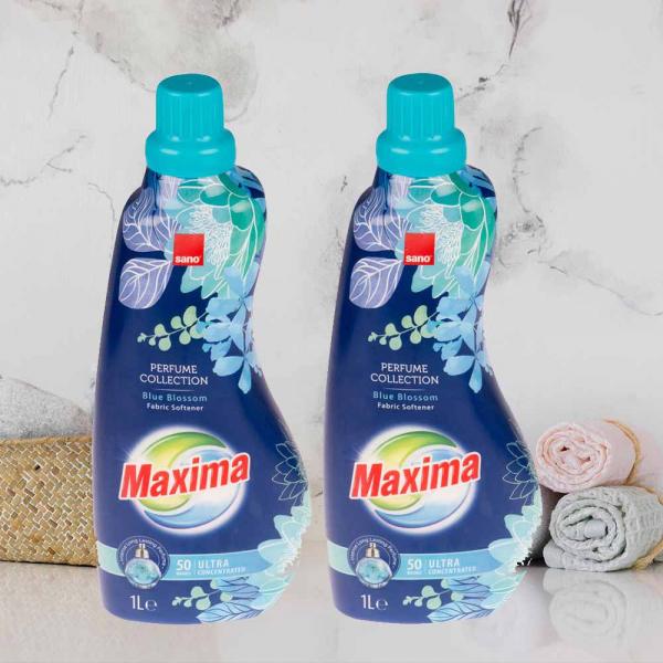 2 x Balsam de rufe ultra concentrat Sano Maxima Perfume Collection Blue Blossom, 50 spalari - 1L 0