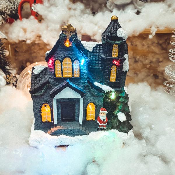 Casa decorativa de craciun cu leduri - Model 1 0