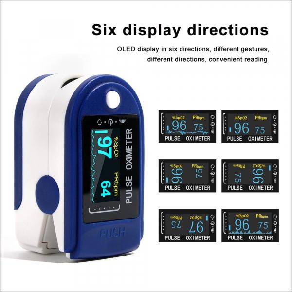 Dispozitiv de Masurat Saturatie Oxigen si Puls pentru Deget - Pulsoximetru / Oximetru 4