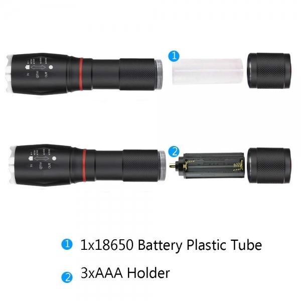 Lanterna Metalica LED Cu ZOOM Si Baza Magnetica 7