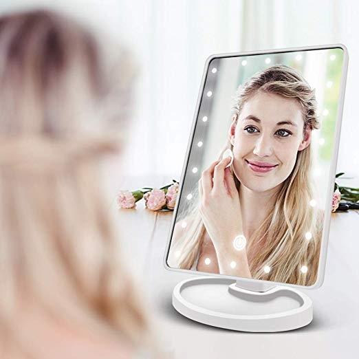 Oglinda Machiaj Cu LED Portabila Wellness Beauté - 16 Leduri [1]