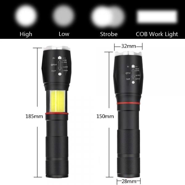 Lanterna Metalica LED Cu ZOOM Si Baza Magnetica 6