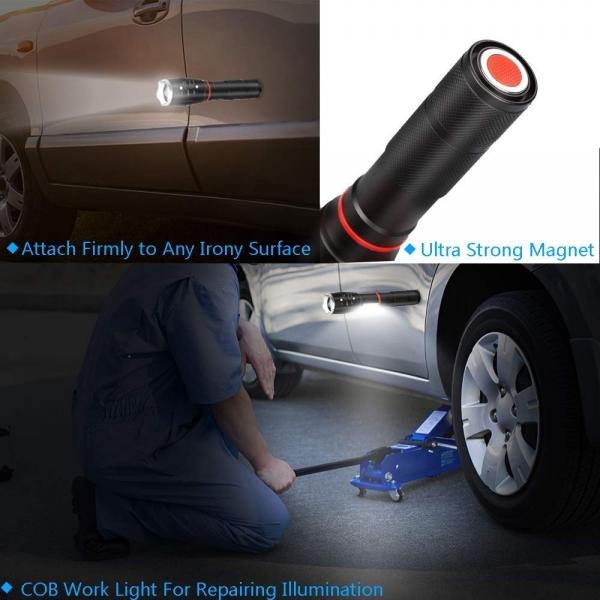 Lanterna Metalica LED Cu ZOOM Si Baza Magnetica 4