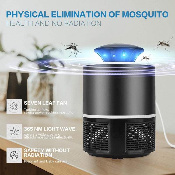Lampa Mosquito Killer cu Led - Anti-Tantari Electric USB, acoperire 40 mp2 4