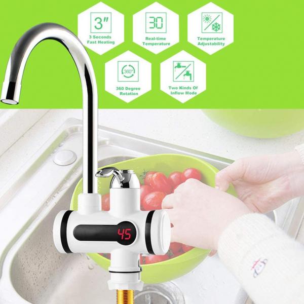 Robinet electric de încălzire a apei de bucătărie, încălzire instant [0]