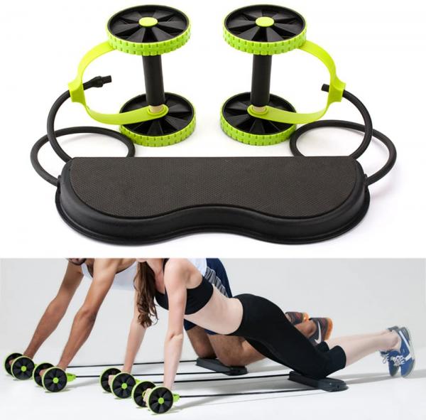 Roată dublă cu role pentru abdomen Fitness Extreme 0