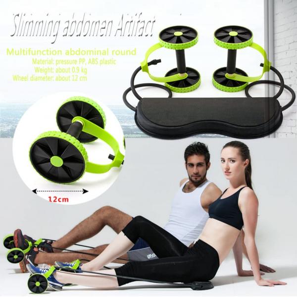 Roată dublă cu role pentru abdomen Fitness Extreme 2