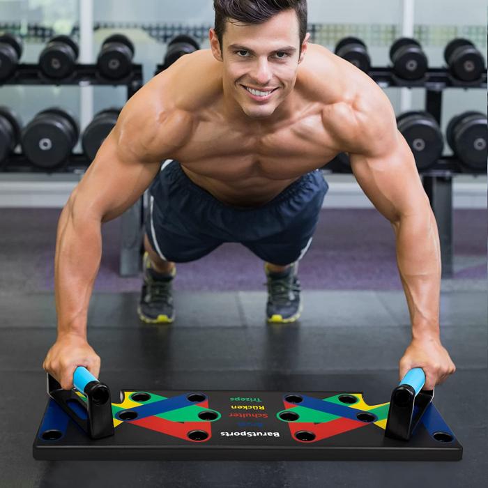 Aparat pentru flotări - piept, umăr, triceps, biceps cu Mânere flexibile [0]