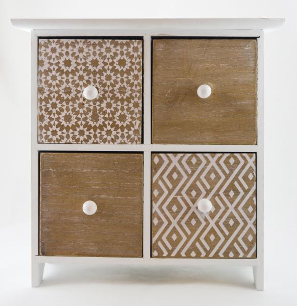Cutie cu 4 sertare pentru bijuterii – Design Vintage 0