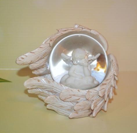 Ornament glob sticla ingeras - 11 cm 0