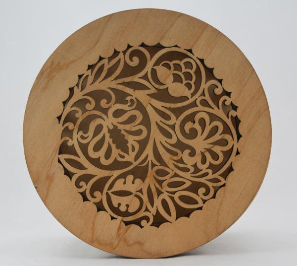 Cutie bijuterii din lemn cu model 1