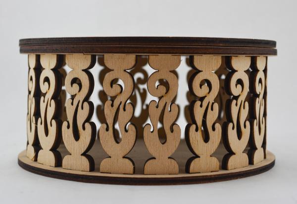 Cutie bijuterii din lemn cu model 2
