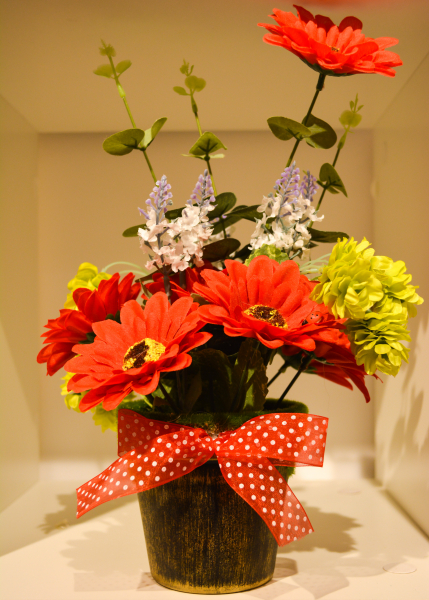 Aranjament floral in ghiveci cu flori de camp 0