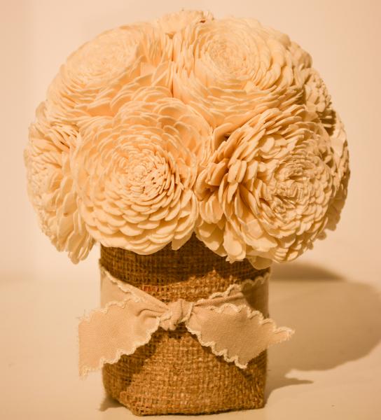 Cana decorata cu panza si plante artificiale 0