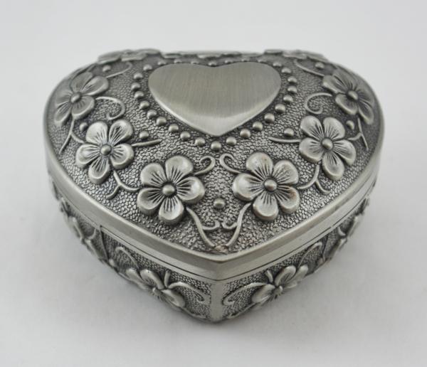 Caseta bijuterii in forma de inima din antimoniu #3 0
