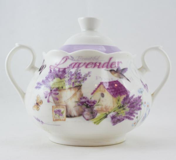 Bomboniera realizata din ceramica - Design lavanda 0