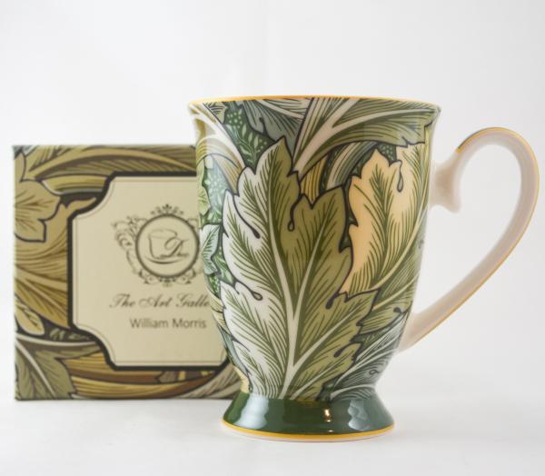 Cana realizata din ceramica in cutie cadou – Design cu frunze 0