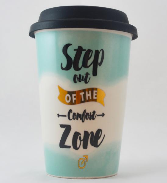 Pahar ceramica cu capac silicon- Comfort Zone 0