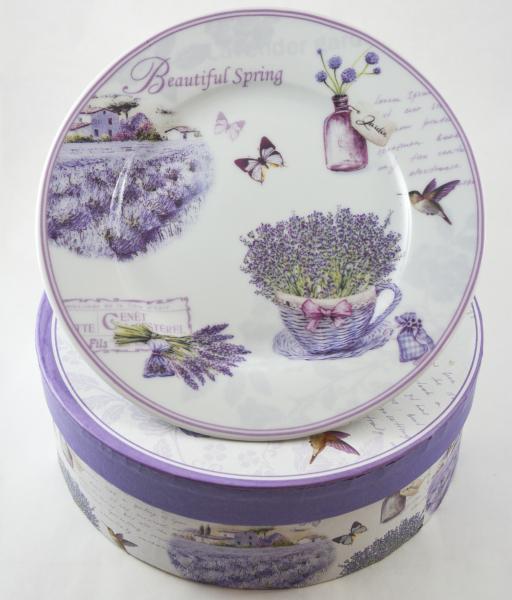 Set 6 farfurii realizate din ceramica – Design cu lavanda 0