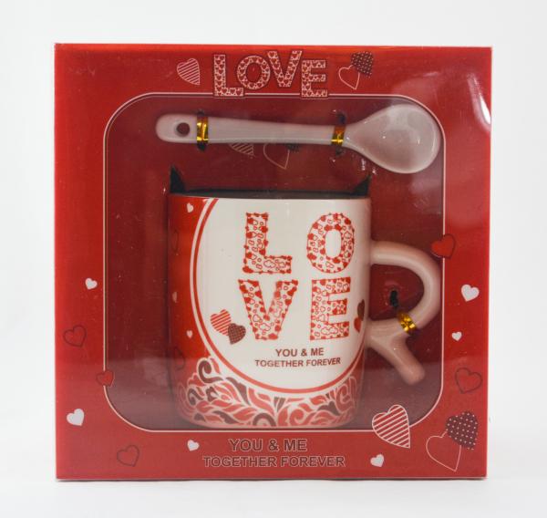 Set cana cu farfurie si lingura realizata din ceramica – Design Love 0