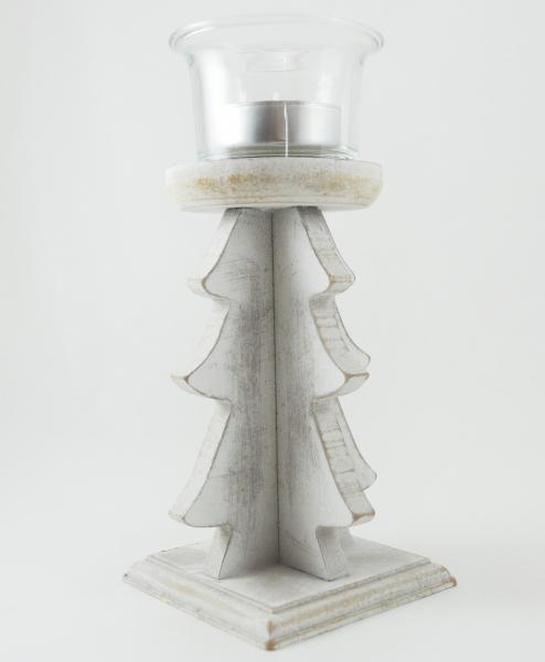 Suport pentru lumanare realizat din lemn – Design rustic 16 CM 0