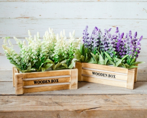 Aranjament floral ghiveci lemn 0