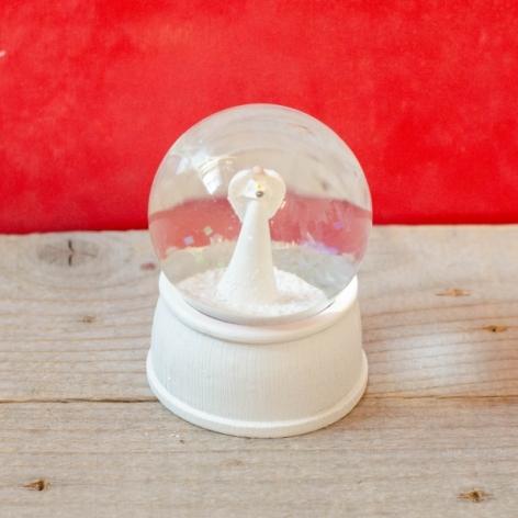 Glob sticla alb - 9 cm 0