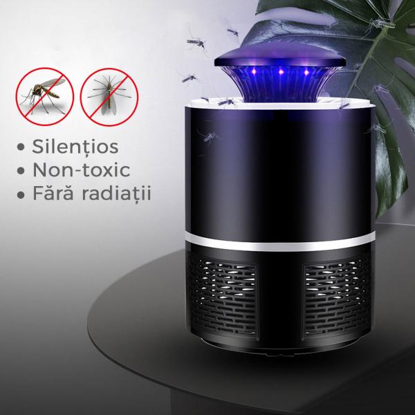 Lampa Mosquito Killer cu Led - Anti-Tantari Electric USB, acoperire 40 mp2 1