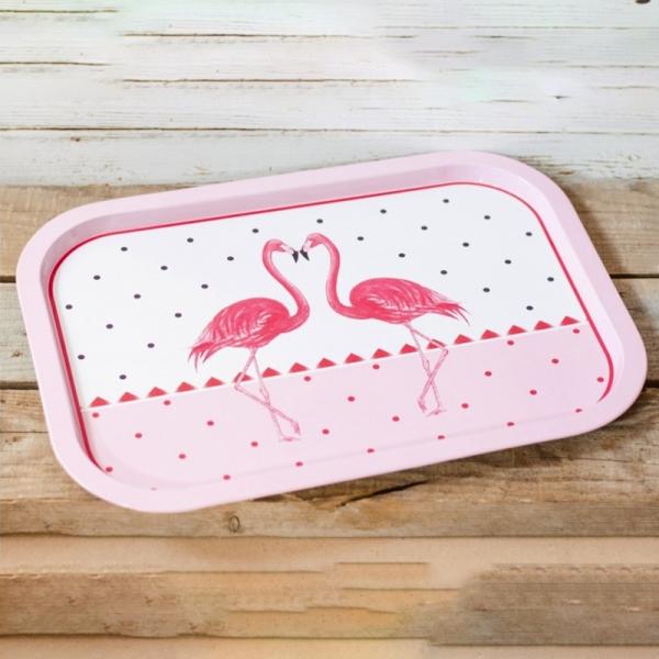 Tava din metal Flamingo #1 - 40x29cm 0